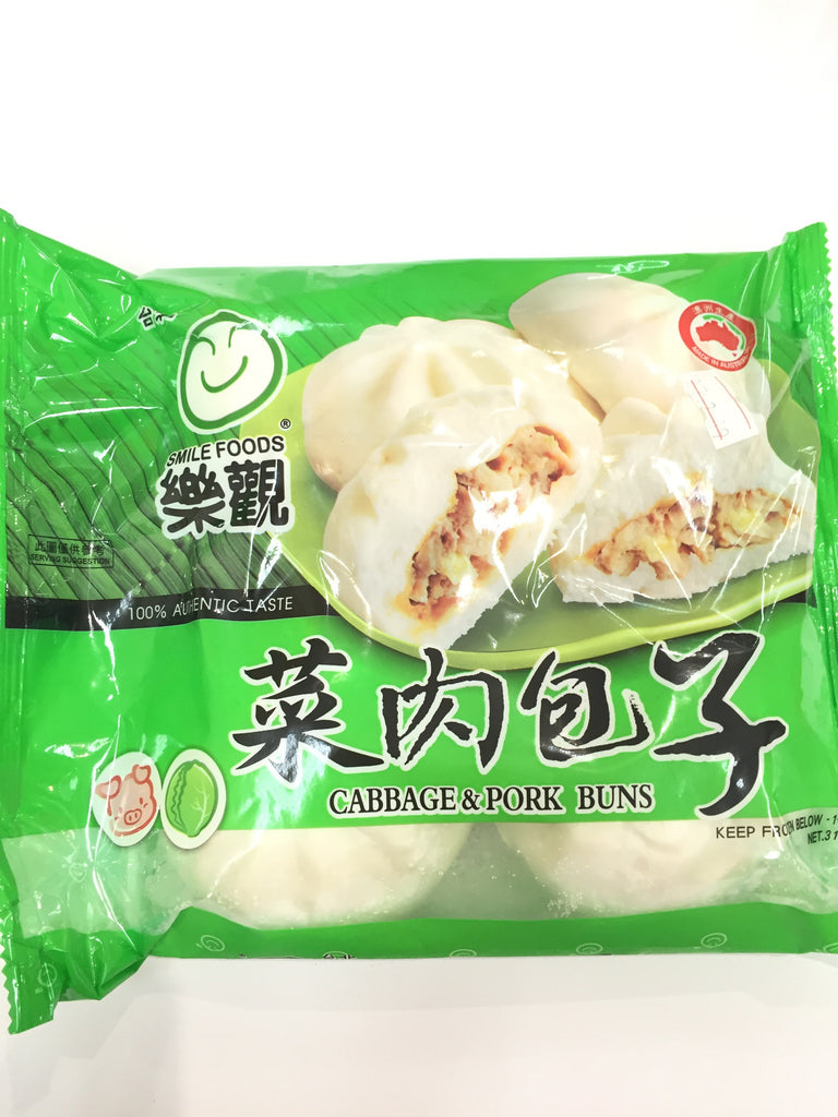 Smile foods Cabbage & Pork Bun 乐观菜肉包子 310g