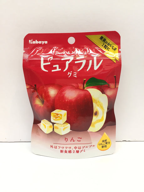 Kabaya Pure&Natural Candy Apple 卡巴也 水果夹心软糖 苹果味 45g