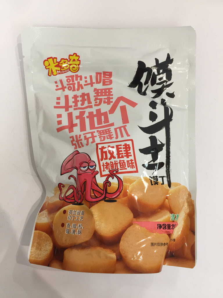 MiDuoQi Crackers (Grilled Squid) 米多奇馍斗士(放肆烤鱿鱼) 156g