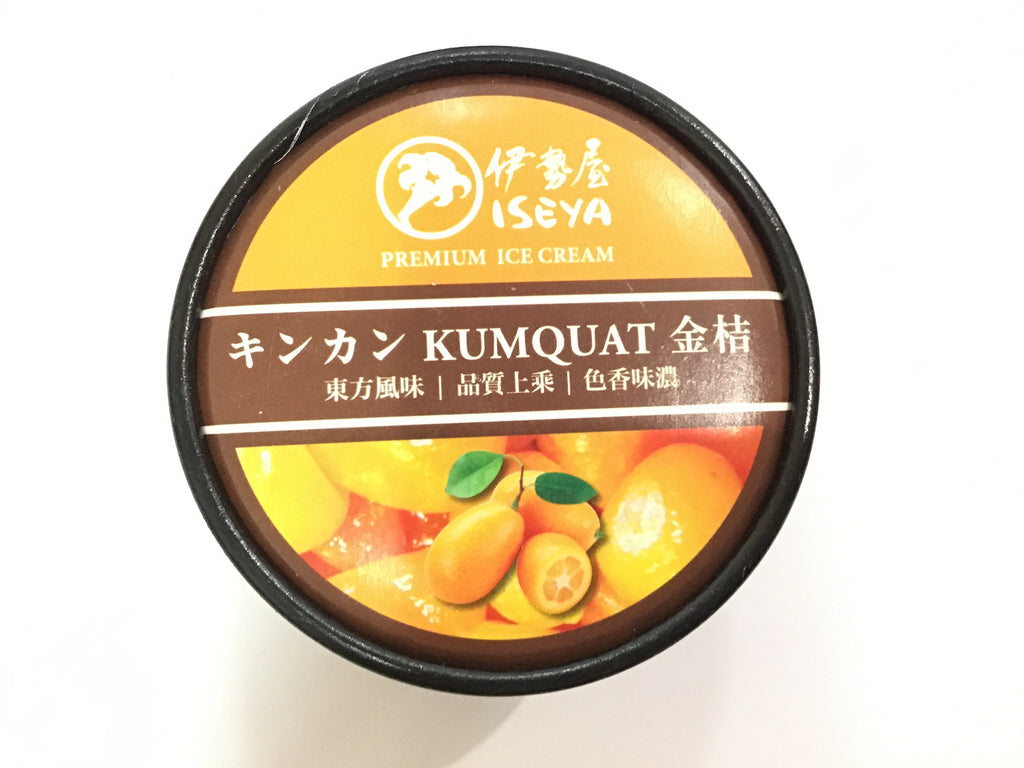ISEYA ICE CREAM KUMQUAT 伊势屋冰淇淋金桔 150ML