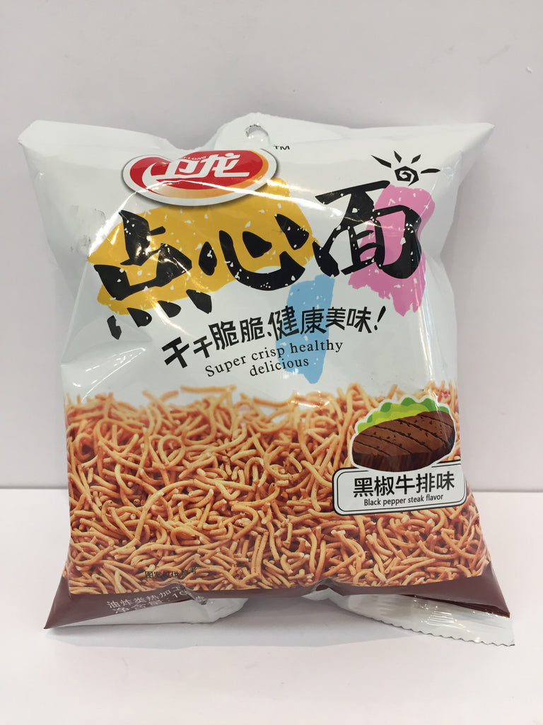 WL NOODLE SNACK BLACK PEPPER STEAK FLAVOR 卫龙 点心面 黑椒牛排味 100G