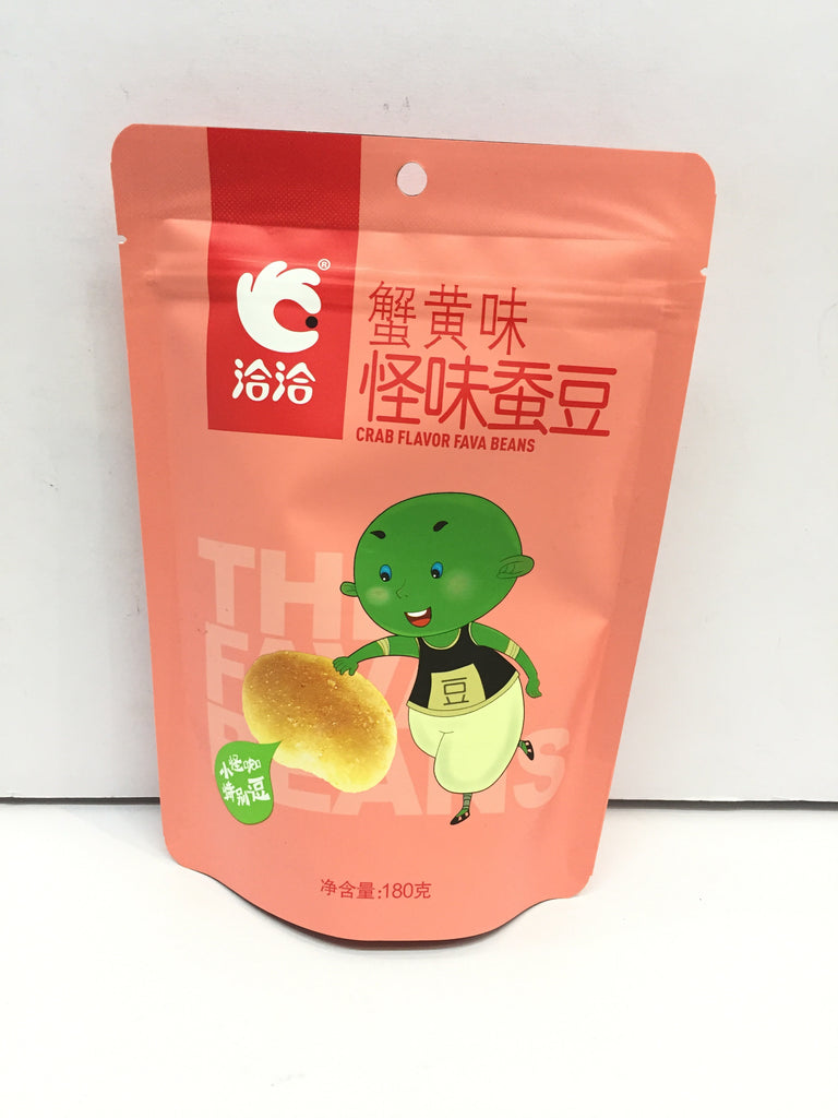 ChaCha Roasted Broad Bean (Crab Flavor) 洽洽怪味蚕豆蟹黄味 180g