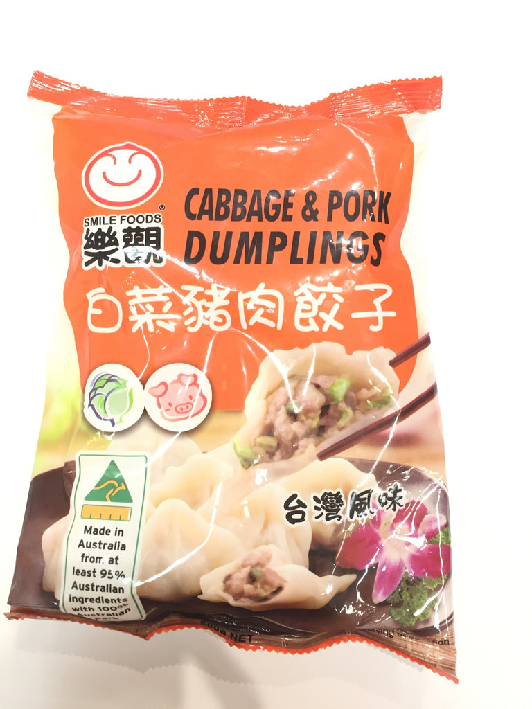 Smile foods Cabbage & Pork Dumplings 乐观白菜猪肉水饺 600g