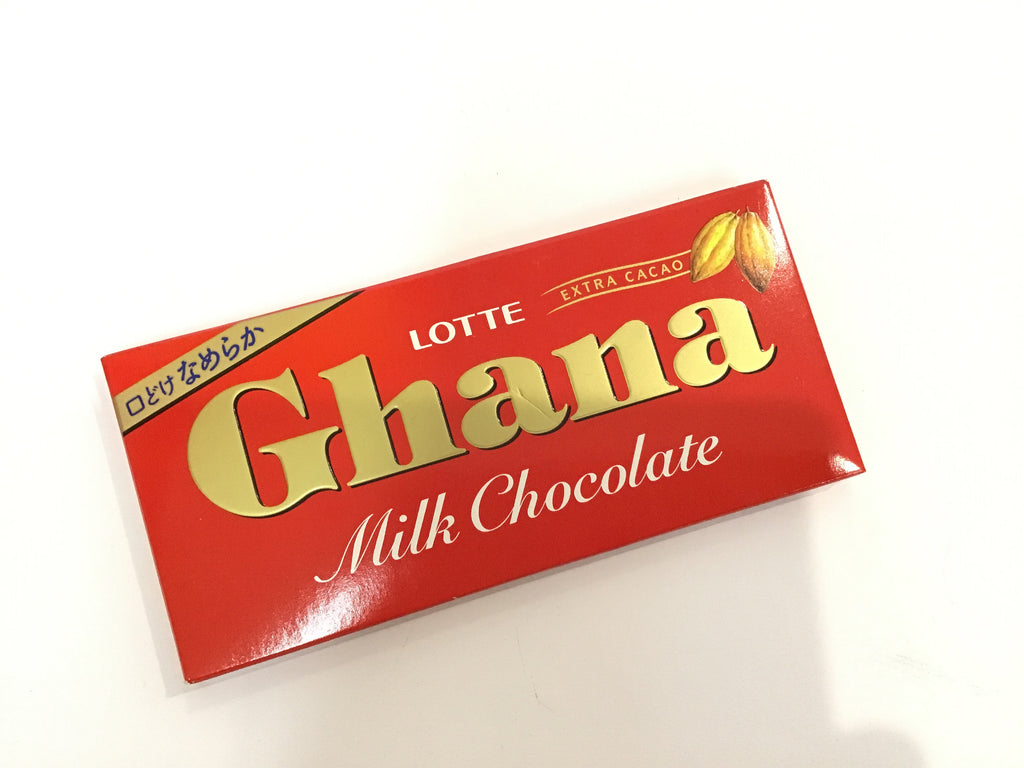 LOTTE GHANA MILK CHOCOLATE 乐天牛奶巧克力50G