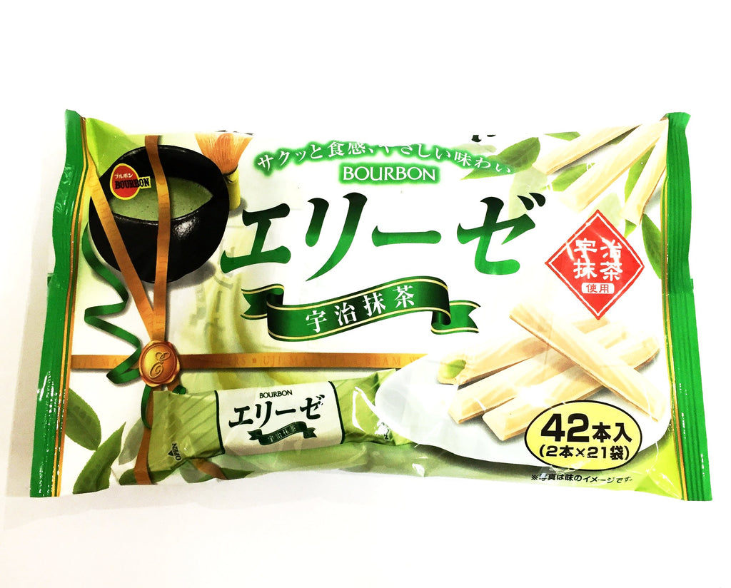 Bourbon Elise Matcha Wafer Fingers (42pcs) 日版 百邦抹茶威化卷 42入 151g