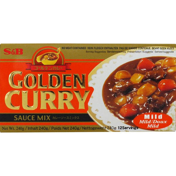 S&B GOLDEN CURRY MILD (large) S&B黄金咖喱 微辣 240g