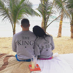 The King & His Queen Couple's Cotton Sweatshirts Hoodies