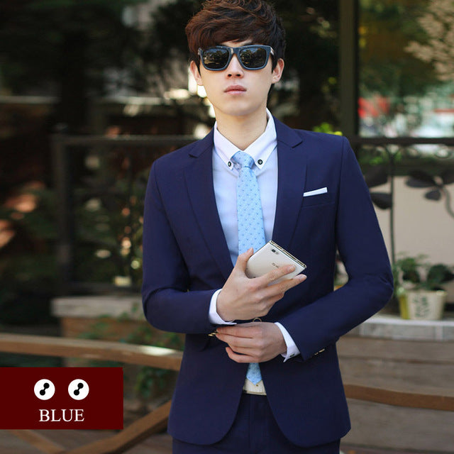 Luxury Men Wedding Suit Male Blazers Slim Fit Suits