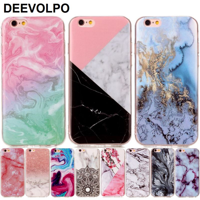 Silicone Soft Marble Stone Phone Cover Case