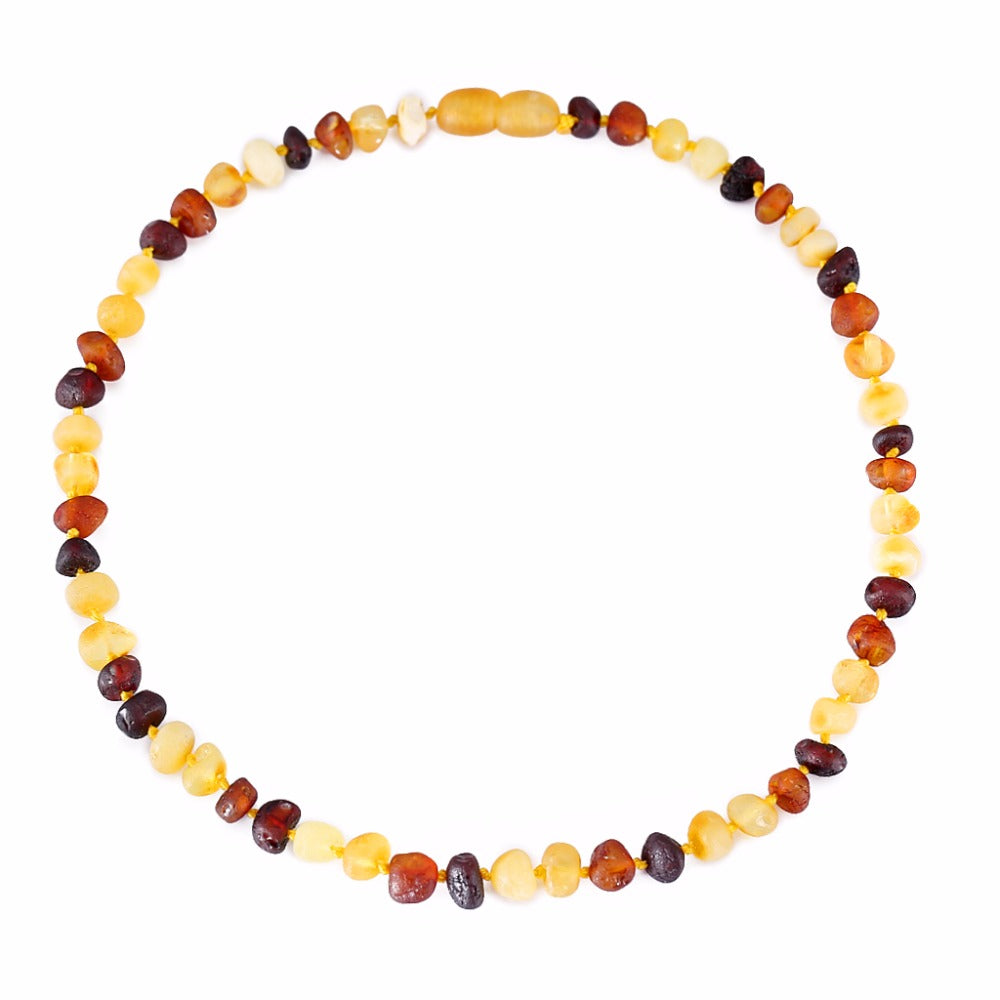 Baltic Amber Teething Necklace/Bracelet for Baby in 4 Colors ship from USA