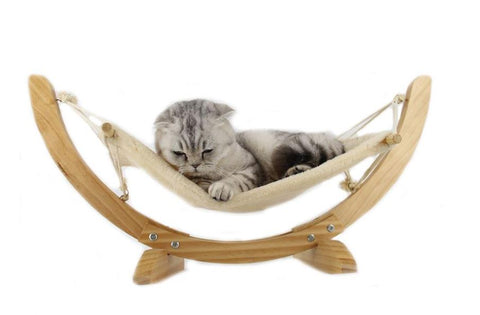 Luxury Cat Hammock - Large Soft Plush Bed (24x16in) Anti Sway Attractive & Sturdy Perch  Easy to Assemble [variant_title]