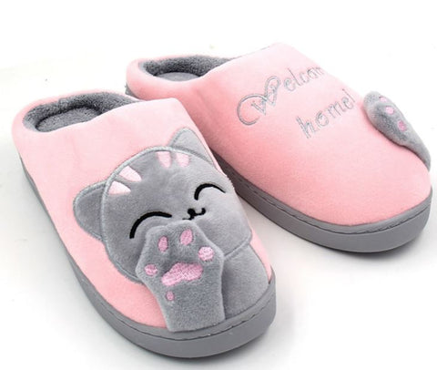 Warm and Fuzzy Cute Cat Slippers - gifts for cat lovers - cat themed items - cat gifts - purfectpetgifts