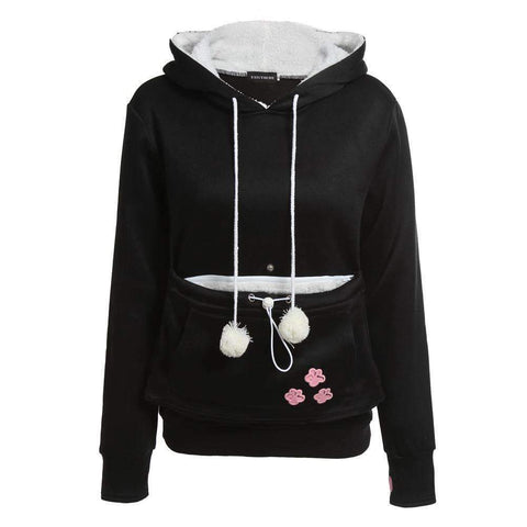 Cat Lovers Hoodies With Cuddle Pouch - gifts for cat lovers - cat themed items - cat gifts - purfectpetgifts