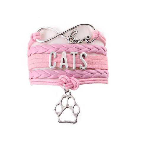 Handmade Leather Cat Lover's Bracelet - gifts for cat lovers - cat themed items - cat gifts - purfectpetgifts