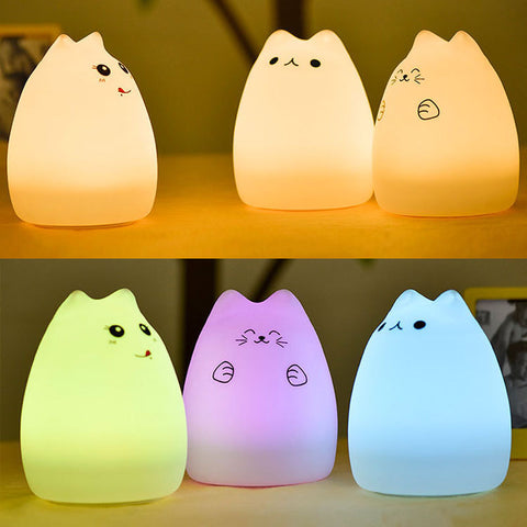 USB Rechargeable LED Silicone Lamp - gifts for cat lovers - cat themed items - cat gifts - purfectpetgifts