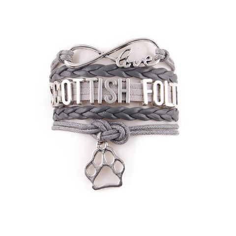 "Handcrafted Leather ""Scottish Fold"" Cat Lover's Bracelet - gifts for cat lovers - cat themed items - cat gifts - purfectpetgifts"