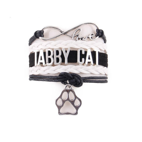 "Handcrafted Leather ""Tabby Cat"" Lover's Bracelet - gifts for cat lovers - cat themed items - cat gifts - purfectpetgifts"
