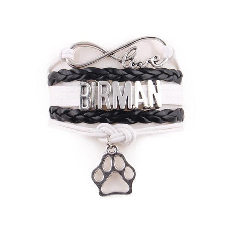 "Handcrafted Leather ""Birman"" Cat Lover's Bracelet - gifts for cat lovers - cat themed items - cat gifts - purfectpetgifts"