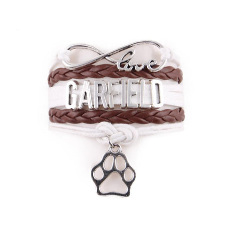 "Handcrafted Leather ""Garfield"" Cat Lover's Bracelet - gifts for cat lovers - cat themed items - cat gifts - purfectpetgifts"