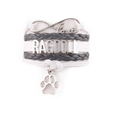"Handcrafted Leather ""Ragdoll"" Cat Lover's Bracelet - gifts for cat lovers - cat themed items - cat gifts - purfectpetgifts"
