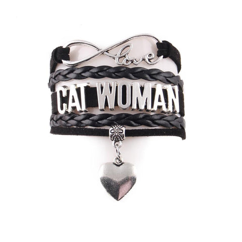 "Handcrafted Leather ""Cat Woman"" Bracelet - gifts for cat lovers - cat themed items - cat gifts - purfectpetgifts"