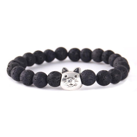Cat Lover's Bead Bracelet - gifts for cat lovers - cat themed items - cat gifts - purfectpetgifts
