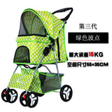 Outdoor Pet Cart Dog Cat Carrier Pet Stroller   Multicolor 600D Oxford Cloth Steel Pipe High-intensity  4-wheels One-key Folding as photo-8 / M
