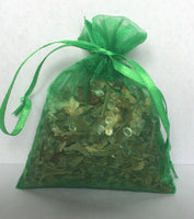 Sachets  bags with Natural Flowers, Grass and Aroma Jelly beads with Natural Fragrance Oils.