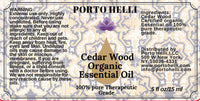 Cedar Wood Organic Essential Oil 100% Therapeutic Grade