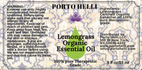 Lemongrass Organic Essential Oil 100% Therapeutic Grade