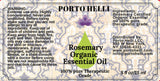 Rosemary Organic Essential Oil 100% Therapeutic Grade