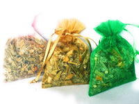 Sachets with Natural Flowers, Grass and Aroma Jelly beads with Essential Oils.