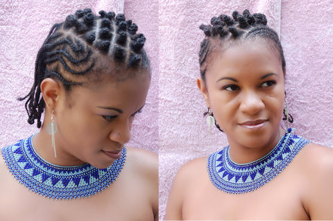 Braids, Bantu knots, Flat Twits and Cornrows