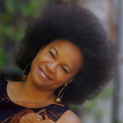 Mireille Liong with a big Afro