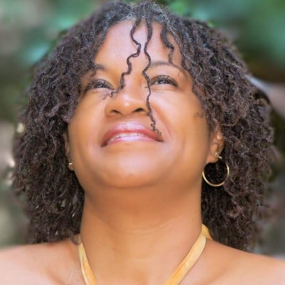 Braid out style in Micro Locs Mireille Liong