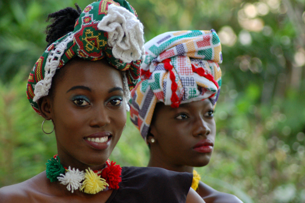 Pangi handmade headwrap from the Maroons in Suriname