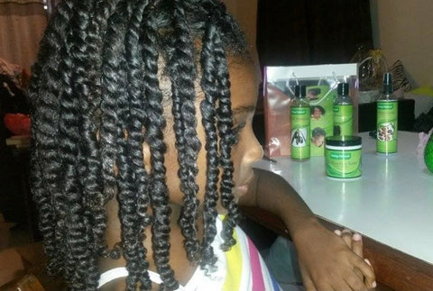 Cherilice twisted her hair with the the Going Natural Silky Shea Butter