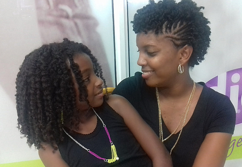Cherilice and her mom very happy with the Going Natural hair Care products