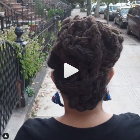 360 view of Braidlocs updo natural hairstyle