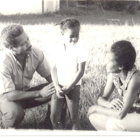 Mireille Liong with her parents