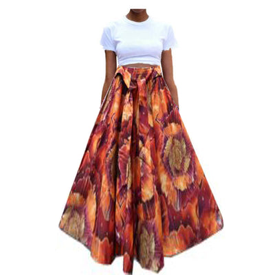 African print Skirt with headwrap