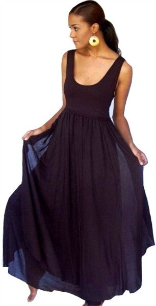 Layered Gypsy Sleeveless Maxi Dress