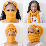 Multi-Wear Headwrap Scarf with stone jewelry