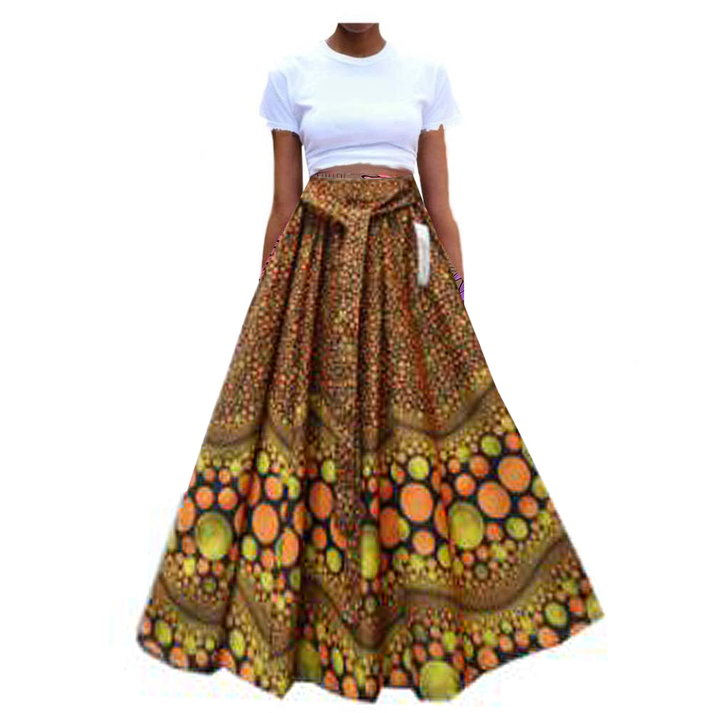 African Skirt with headwrap