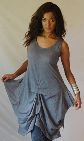 Balloon Hem Jersey Cotton Cami Top Or Mini Dress
