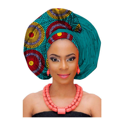 African Print Wax Cotton for Headwrap and Gele