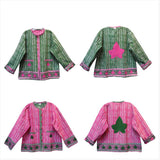 AKA Sorority Jacket reversible green pink Jacket Kamala Harris