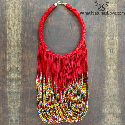 Traditionally Designed Handmade Masai Necklace