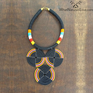 Handmade Beaded Necklace from Kenya