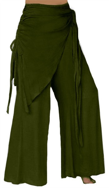 Bell Bottom Pants With Scarf